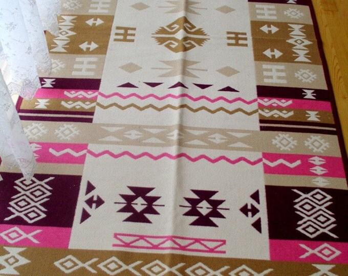 Kilim rug, large kilim rug, floor kilim rug, tribal kilim, living room kilim rug, boho rug