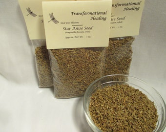 Star Anise Seed - Whole - Herb, Psychic, Luck, Power, Meditation, Healing, Magical, Spiritual, Metaphysical - Dee's Transformational Healing