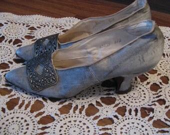 Edwardian Slipper Shoes, Vintage 1901 - 1910,