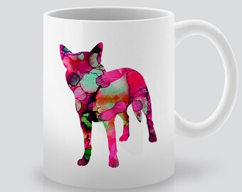 Watercolor Dog Mug -  Tea Mug -  Coffee Mug - Ceramig Mug - Colorful Gift