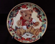 Christmas Teddy's First Christmas Plate by franklin mint