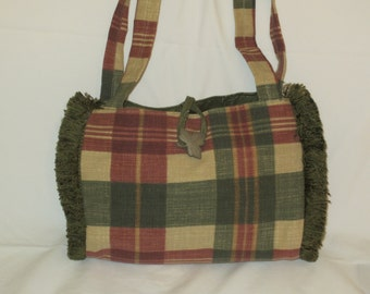 Preppy Plaid Handbag