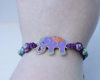 purple elephant bracelet