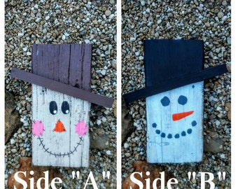 Scarecrow/Snowman double sided sign