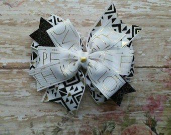 Love, Hope, and Faith Bow, pinwheel bow