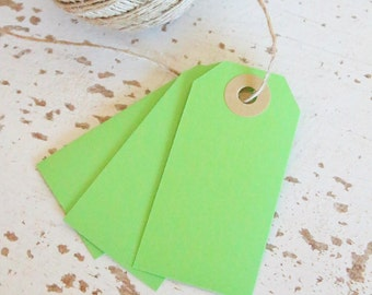 Parcel Tags Pk10 - Green