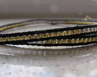 Silver and Gold Bead Wrap Bracelet (Chan Luu Remake)