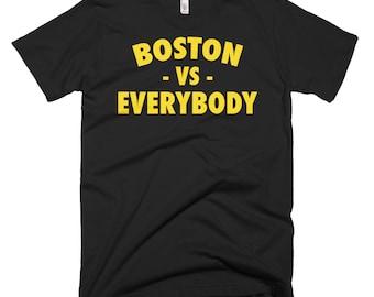 Boston Vs Everybody, Boston Shirt, Vs Everybody Shirt, Boston Tee, Boston Apparel, Boston T Shirt, Boston Bruins, Vs Everybody, Red Sox