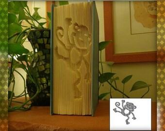 """Cut-N-Fold Book """"Monkey"""""""