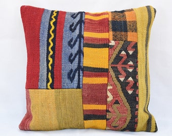 Kissen Vintage Pillow, Kilim Pillow Home Decor Pillow Turkish Bedroom Pillow cover cushion cover sofa pillow aureola cuscino 40 x 40 cm