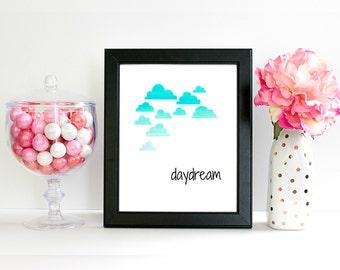 8x10 Digital Art Print. Daydream Print