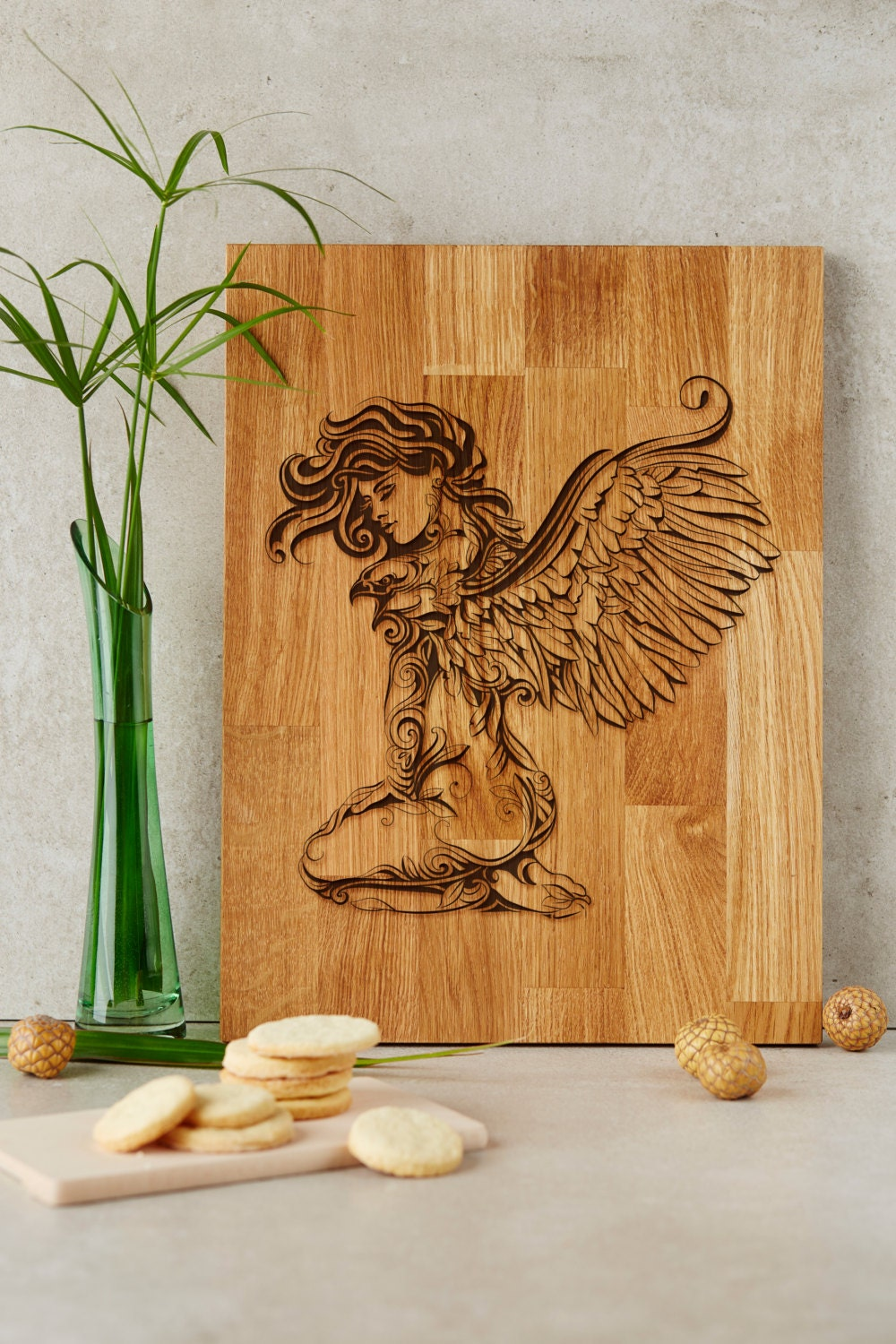 Angel Cutting Board Gift For Her Home Decor By