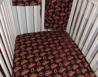Orioles Crib Sheets and Flat Sheet