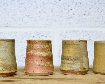Set of four Anagama / Woodfired Shot Cups
