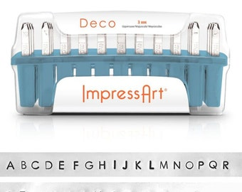 1 set letter stamp ImpressArt 3mm Deco uppercase uppercase
