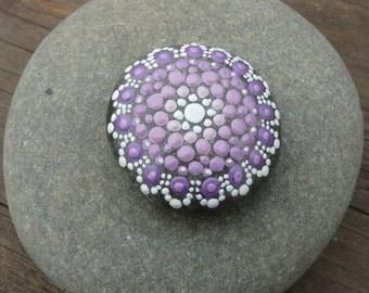 Mandala on Pebble (stone mandala)