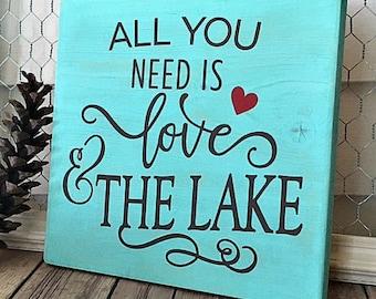 Lake Home Wooden Sign - Home Decor - Cabin Decor - Rustic Decor