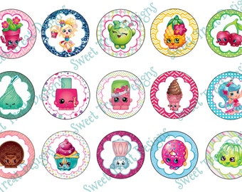 Shopkins Bottle Cap Images - Set #2 (Set of 15 Images)
