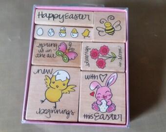 Easter Wood Stamp Set