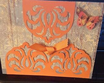 Handmade Greeting Card for Fall, Fall Greeting Card, Greeting Card. Fall Themed Greeting Card, Card, Handmade Card, FREE SHIPPING