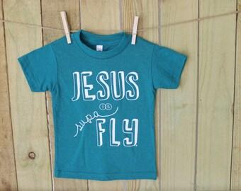Jesus is Supa Fly Evergreen Tee- RTS