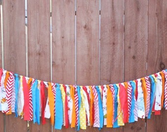 Dr. Seuss Fabric Rag Garland