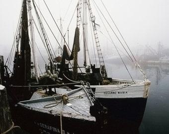 Docked in the fog