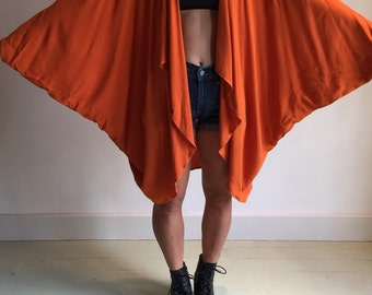vtg 80s batwing slouch caftan cape jacket duster avant garde coachella cocoon dress