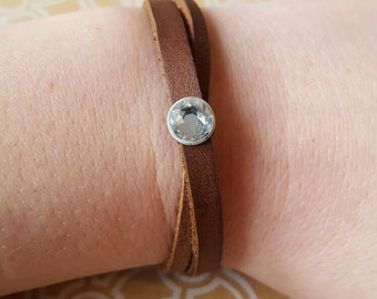 Modern Leather Bracelet, leather wrap, leather bracelet for her, Gift for her