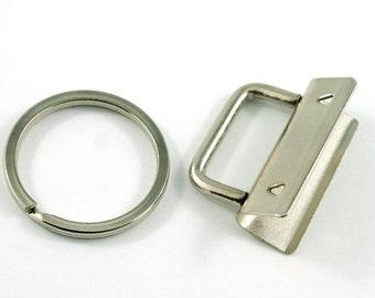 """Nickel Finish 1.25"""" Key Fob Hardware  (14-KF)"""