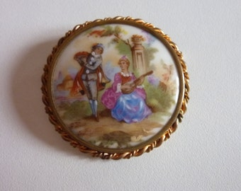 Brooch Limoges France