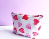 Heart Printed Make-Up Bag