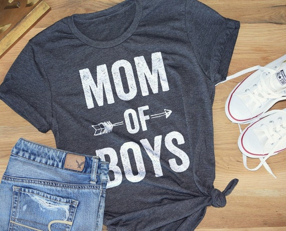 MOM OF BOYS Feminine effortless t-shirt for woman by LeoJudeCo: https://www.etsy.com/listing/277888066/mom-of-boys-feminine-effortless-t-shirt