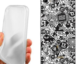 Black case cover white for huawei p8