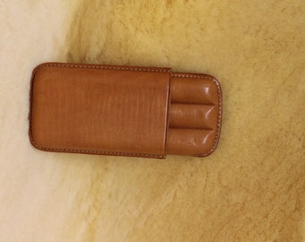 Cigar-case leather in small