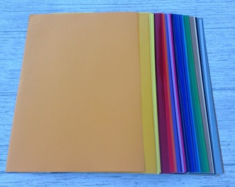 Craft Vinyl Oracal 641 Gloss - A4 | Sticky Back Plastic | Fablon | Self Adhesive Vinyl