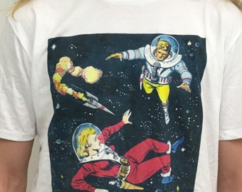 Lost in Space, T-shirt with Australian pulp sci-fi design (XXL only)