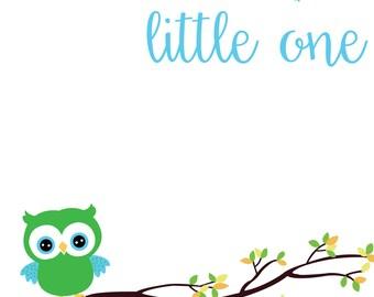 Grow Wise, little One-Nursery Printable
