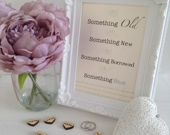 Framed Typography Embellished Quote - Something Old, Something New