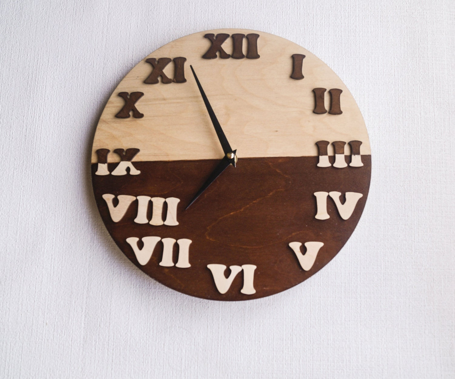 Wall Clock Trending Minimalist Art Natural Wood By
