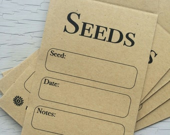 Pack of 25 Seed Envelopes - collect your own seeds or share with friends and family