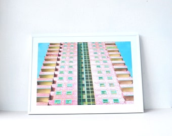 Modernist print, Limited Edition, Architecture, Modern wall art, City scape, Minimalist modern, Giclee, Livingroom art, Modern decor