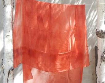 Tangerine Hand Dyed Silk Scarf