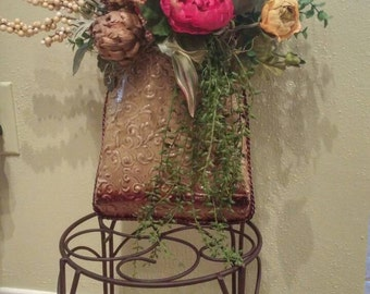 Swag for front door or inside decor. Copper 'purse' looking
