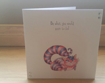 Alice in Wonderland Cheshire Cat Hand Made Card