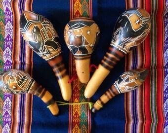 Peruvian Gourd Rattles