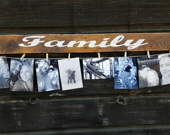 Wood Family Photo Holder Display