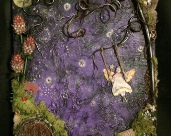 Fairy Night 16x20 Mixed Media on Canvas