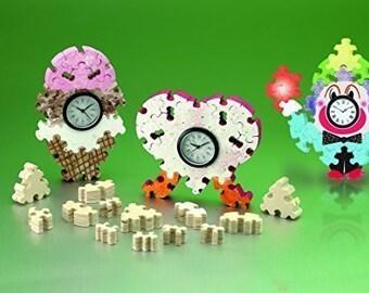 Puzzle Wood Clock Craft Kit
