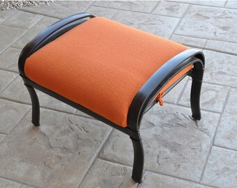 Outdoor Patio Slipcovers for Single Seat Bottom or Ottoman in Tangier, Nautical Blue,  Dove Grey, and Aruba
